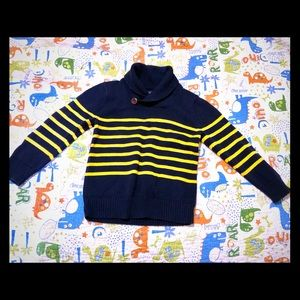 Baby Gap sweater navy/yellow 4t